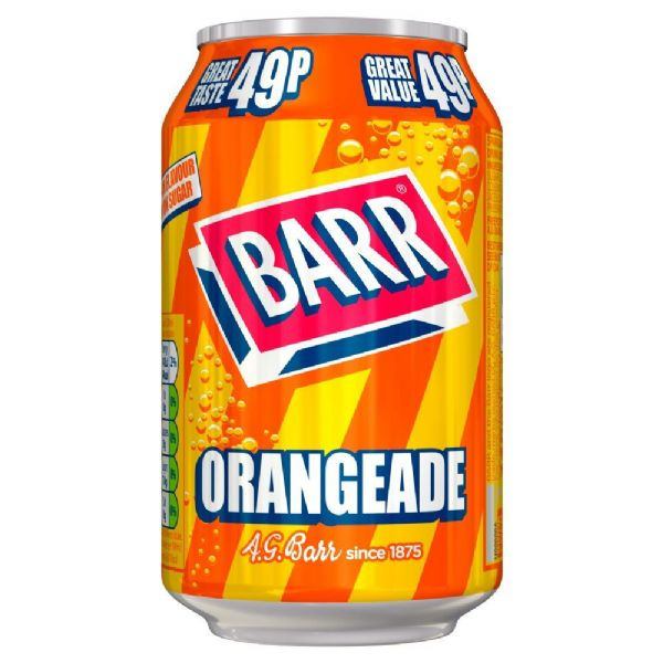Barr Orangeade 49p 330ml	(UK)